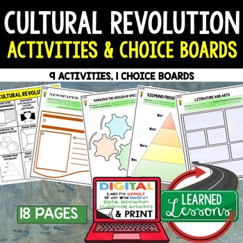 Cultural Revolution Choice Board Activities (Paper and Goo