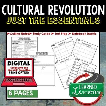 Cultural Revolution Outline Notes JUST THE ESSENTIALS Unit Review