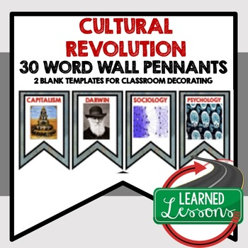 Cultural Revolution Word Wall Pennants (World History)