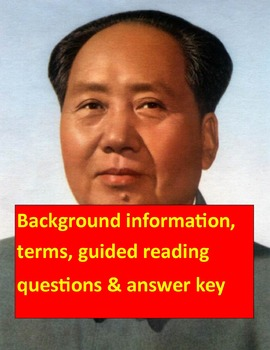 Cultural Revolution using Mao's Last Dancer: Background, terms, questions & key