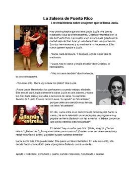 Cultural Salsa Reading and Comprehension Questions