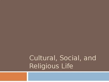 America in the Early 1800s: Cultural, Social, and Religious Life