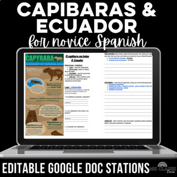 Cultural Stations: Ecuador & Capybara