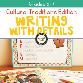 Cultural Traditions Writing Task Cards