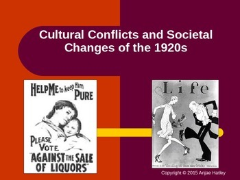 Cultural and Societal Changes of the 1920s Power Point