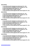Culture resource: five questions one page cut up activity