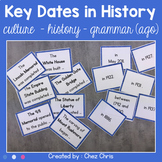 Key dates in History - Culture and grammar (ago) - Matching activity