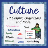 CULTURE, Cultural Diversity Graphic Organizers Activities PRINT and EASEL