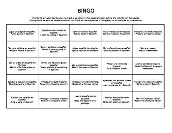 Culture Bingo