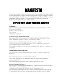 Culture Building Activity/Goal Setting with Manifestos