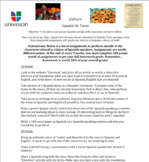 Culture Homework Lower Level Spanish