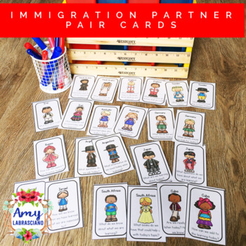 Culture / Immigration Partner Pairing Cards with Engagement Questions