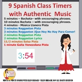 Culture!  Latin-American Music set to Timers for Spanish C