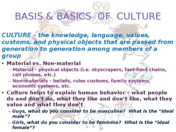 SOCIOLOGY - Culture PPT