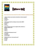 Culture Quiz German speaking Countries