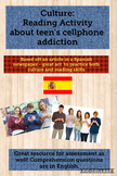 Culture: Reading Comprehension on teen's addiction to cellphones