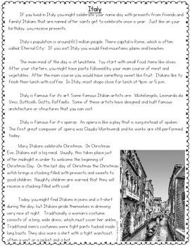 Culture Reading Passages 2