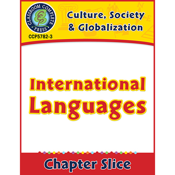 Culture, Society & Globalization: International Languages Gr. 5-8