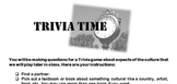 Sub Plan - Culture Trivia Game (All Languages)