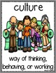 Culture Vocabulary Word Posters