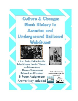 Culture and Change: Black History Webquest and Inveractive BUNDLE