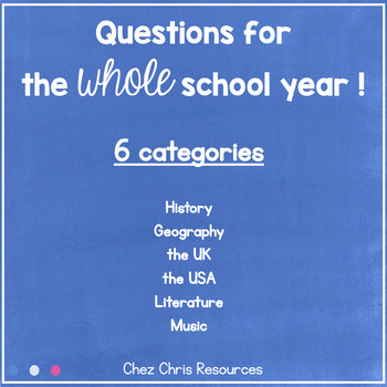 Culture and Civilisation questions: a whole school year activity !