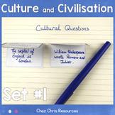 Culture and Civilisation Questions Set 1