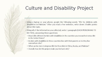 Culture and Disability Project