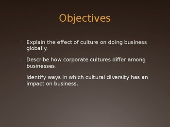 Culture in Business - Intro to Business Ch. 16.1
