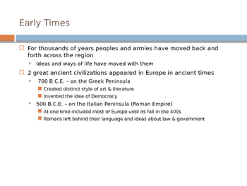 Culture of Europe and Russia Powerpoint