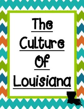 Culture of Louisiana Graphic Organizer