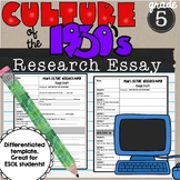 Culture of the 1930's Research Essay SS5H3