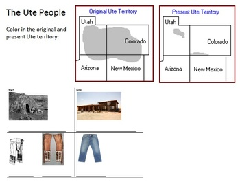 Culture of the Ute People, Powerpoint and Note Sheet