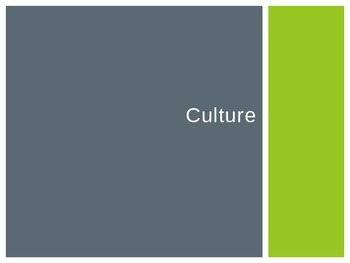 Culture vocabulary and lecture