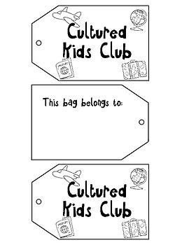 Cultured Kids Club Luggage Tag