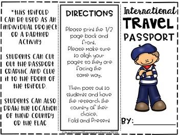 Cultures Around the World- A World Travel Activity Freebie