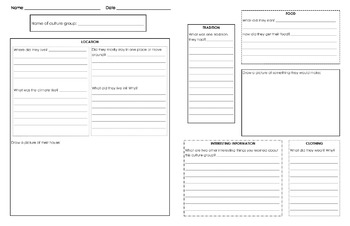 Cultures Graphic Organizer