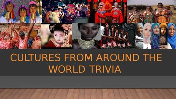 Cultures from Around the World Trivia Jeopardy Game