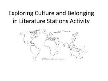 Cultures in Literature: First Look at Novels Stations Activity