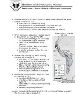 Cultures of Mesoamerica and South America - Exam