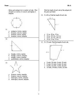 Cummulative Geometry Honors Exam