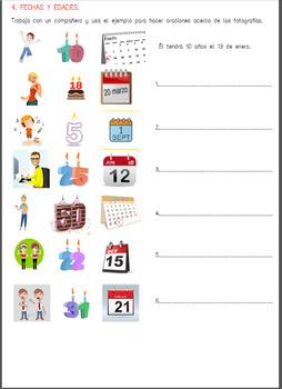 Cumpleaños y fiestas / Birthdays and parties worksheet.