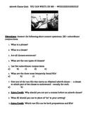 Cumulative Adverb Clause Quiz