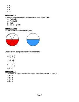 Cumulative Assessment MAFS.3.OA, MAFS.3.NF, MAFS.3.MD.2