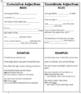 Cumulative & Coordinate Adjectives Notes and Quiz