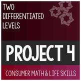 Consumer Math Skill Application Project 4- Special Education Life Skills