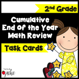 Cumulative End of the Year Math Review Task Cards: 2nd Grade