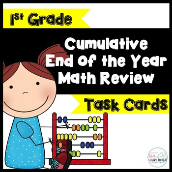 Cumulative End of the Year Math Review Task Cards: 1st Grade