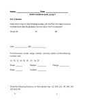 Cumulative Exam, Upper Elementary, Advanced Montessori