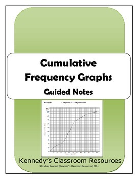 Cumulative Frequency Graphs - Guided Notes